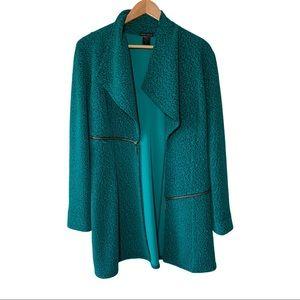 Eva Varro Pebbled Barcelona Green Jacket Large